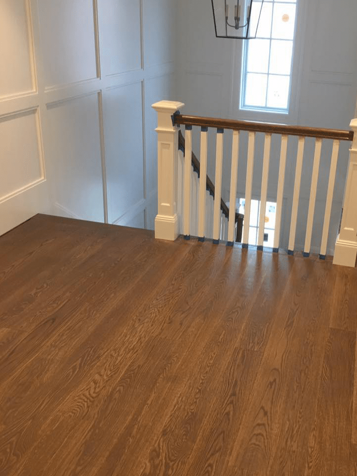 wood floor and steps